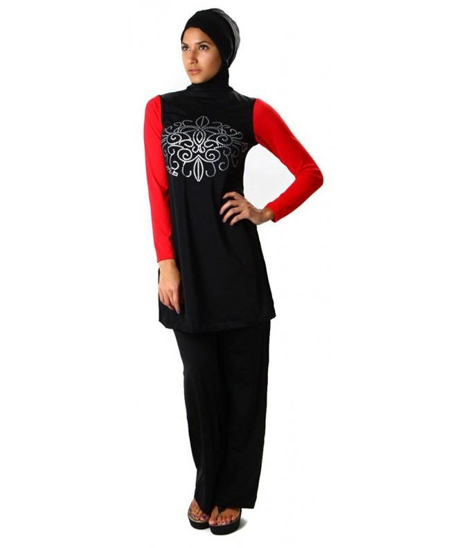 YEESAM Hijab Detachable Muslim Swimwear