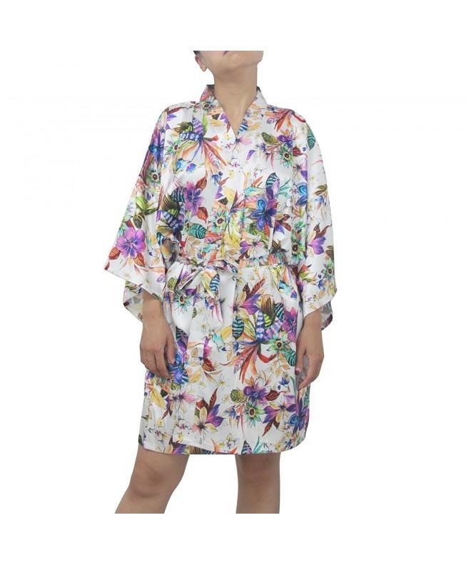 SexyTown Womens Kimono Bridesmaids Style2 White