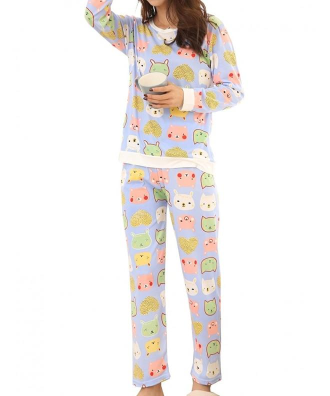 YUEXIN Casual Nightgown Pajama Sleepwear