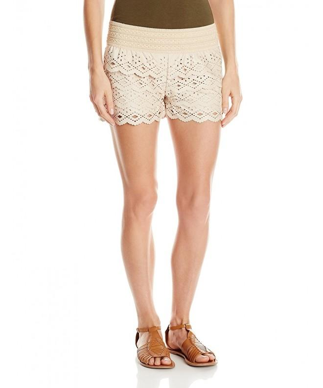 Jolt Womens Suede Tiered Short