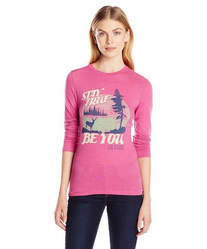 Life Good Womens T Shirt Fuchsia
