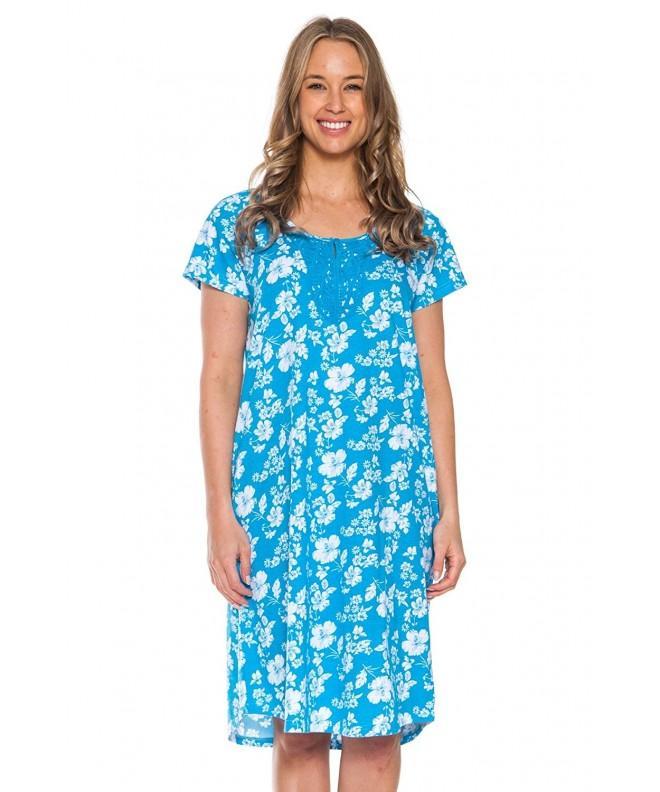 Patricia Nightgown Sleepshirt Turquoise X Large