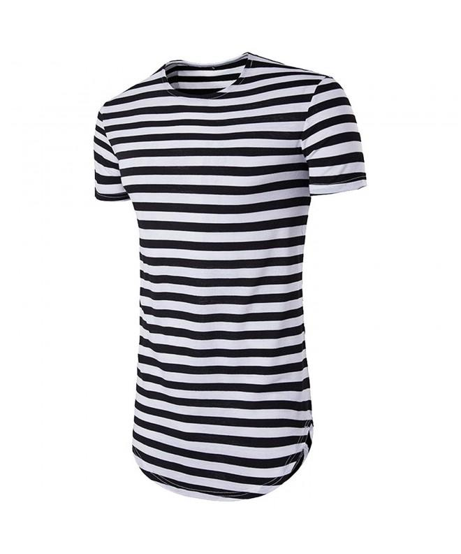Cottory Striped Longline Crewneck T shirt