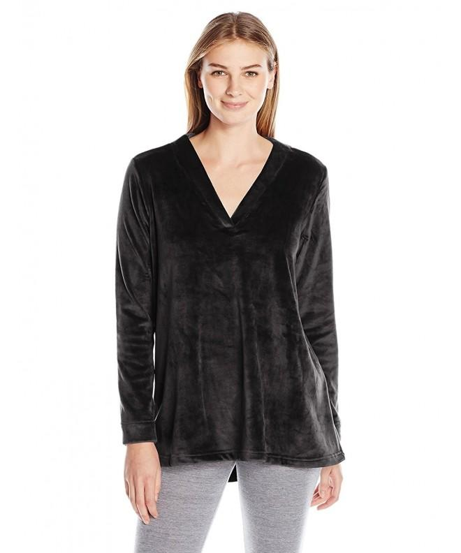 Natori Womens Splendor Velour Black