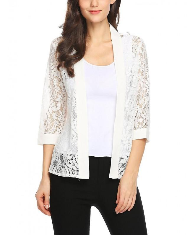 Grabsa Womens Casual Blouse Cardigan