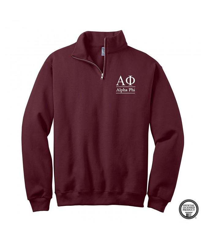 Sorority Letters Shop Pullover Maroon