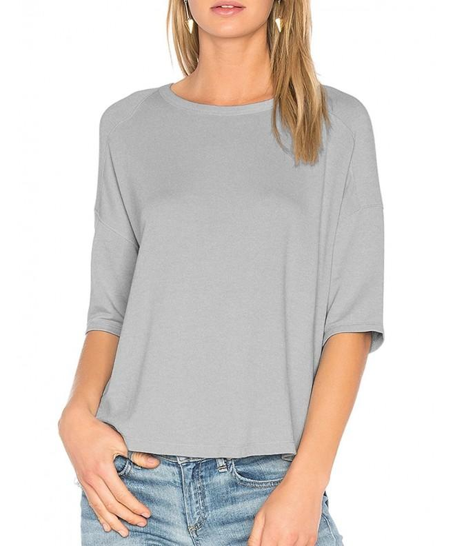 ALLY MAGIC Womens Sleeves Cotton T Shirt