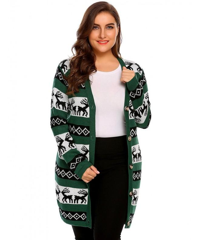 Zeagoo Christmas Reindeer Sweater Cardigan