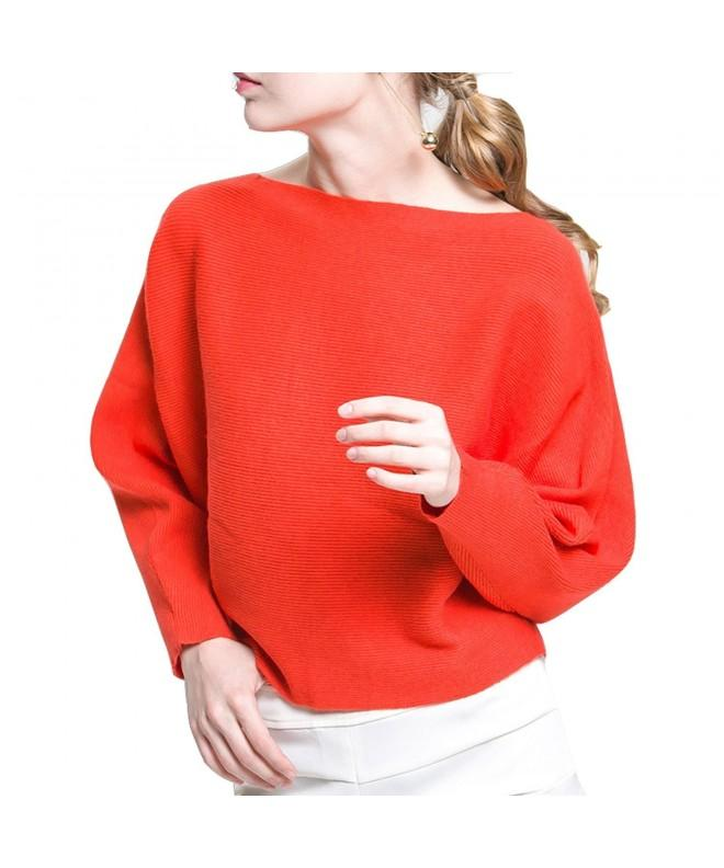 BeMoreWithLess Womens Batwing Ribbed Sweater