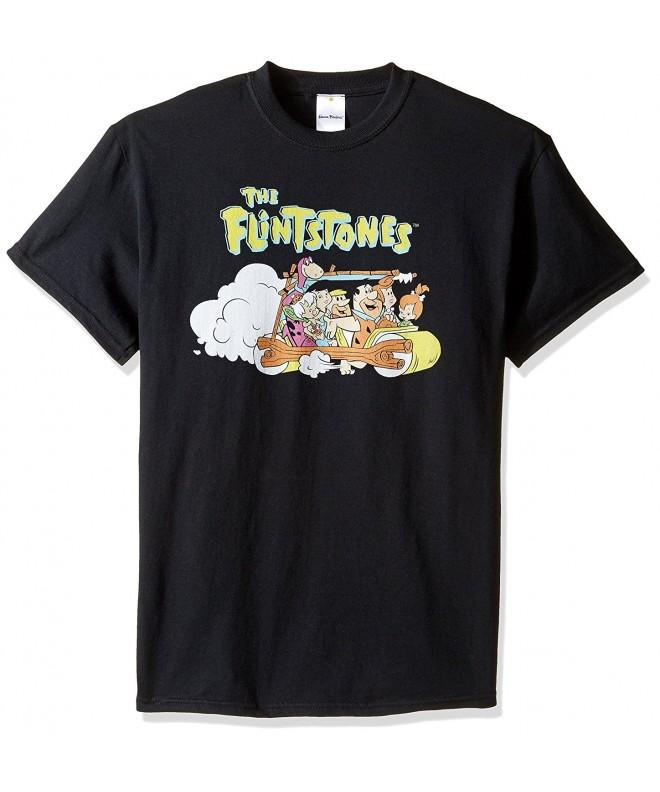 Hanna Barbera Mens Flintstones T Shirt Black