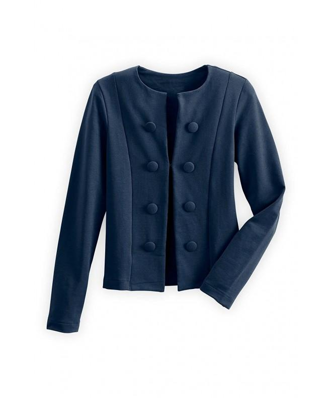 Fair Indigo Organic Button Jacket