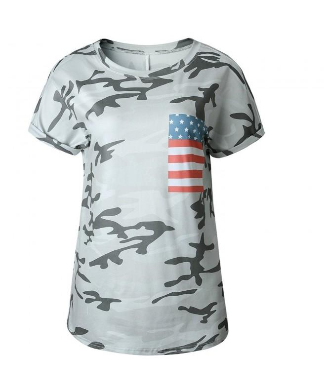 Artfish Sleeve Camouflage Cotton T Shirts