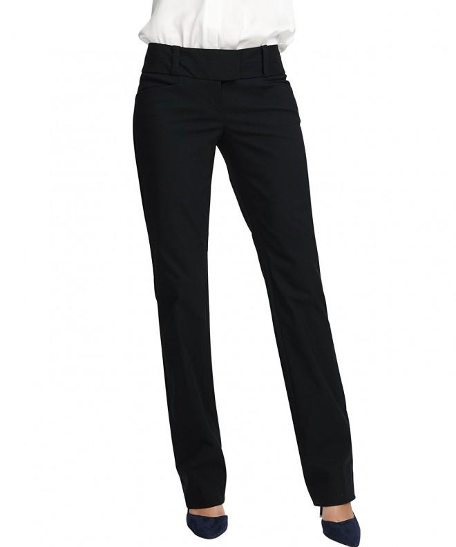 YTUIEKY Womens Straight Casual Stretch
