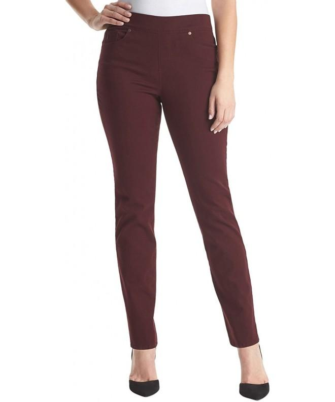 Gloria Vanderbilt Avery Straight Burgundy