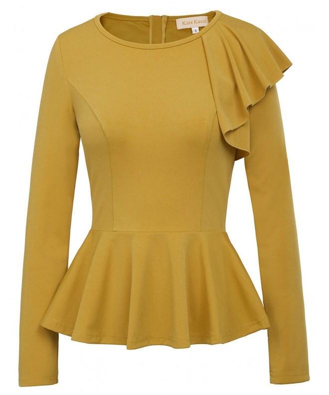 Kate Kasin Womens Sleeve Blouses