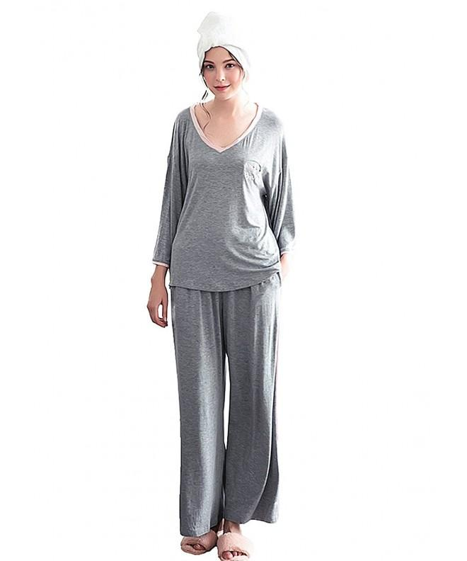 Oumal Women Sleeve Pajamas Sleepwear