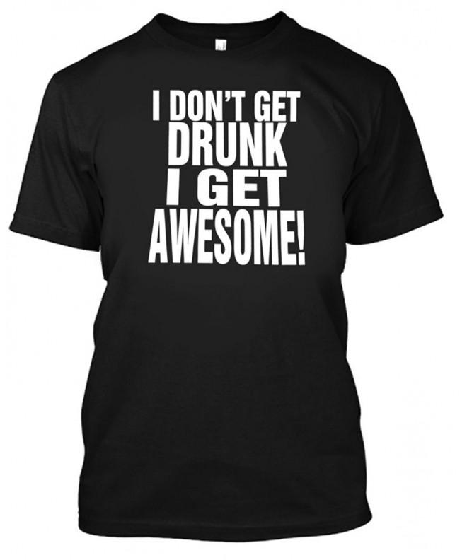 Adult Drunk Awesome Shirt Large