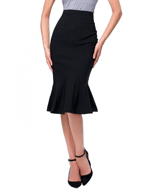 Women Elegant Fishtail Skirts K241 1