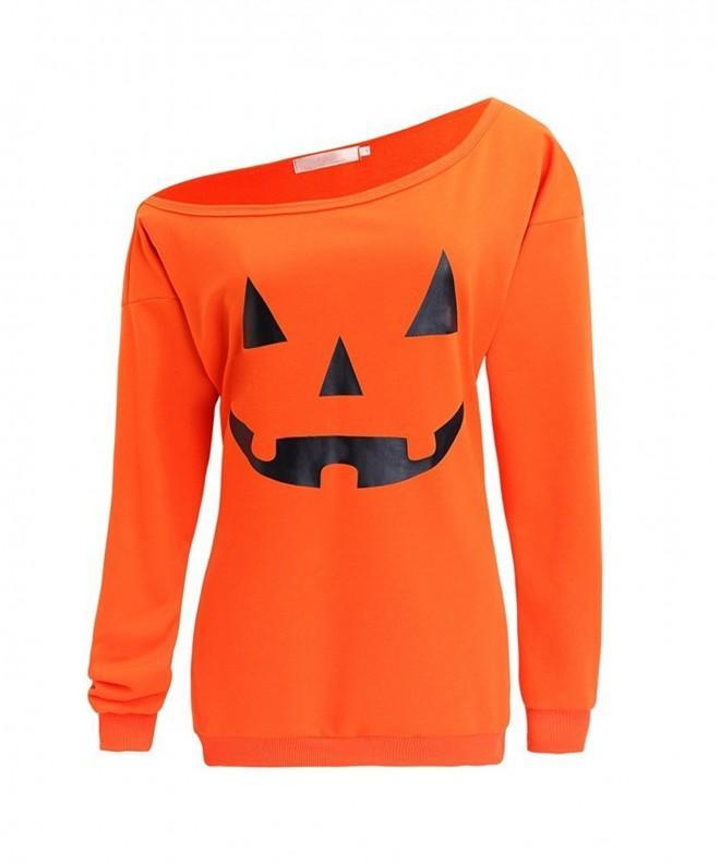 Guandiif Halloween Sweatshirts Shoulder Pullover