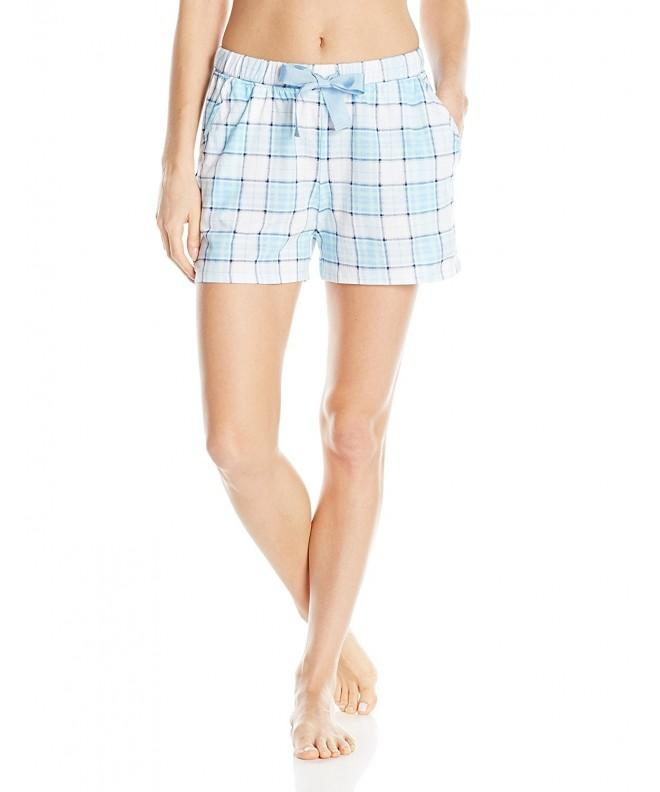 Nautica Womens Jersey Boxer Plaid