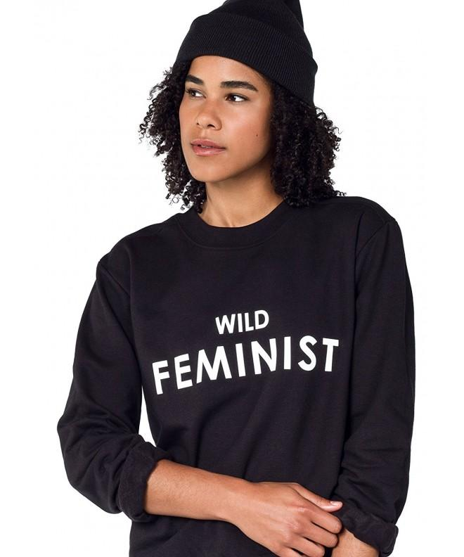 Wildfang Feminist Sweatshirt Black Large