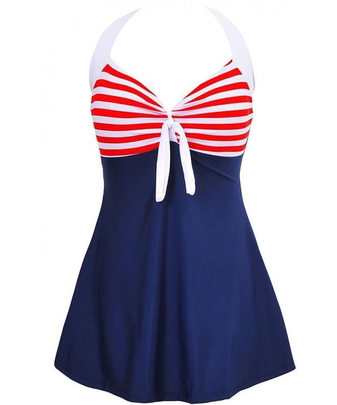 Womens Swimsuit Swimdress Bathing Swimwear