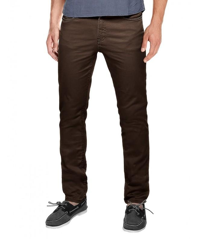 Match Straight Casual Pants coffee