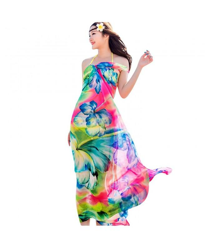 GERINLY Chiffon Sarong Wrap Zephyranthes
