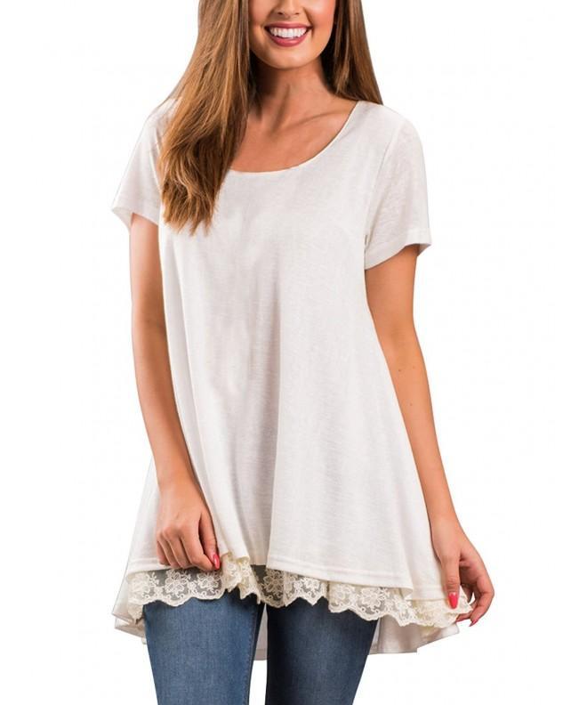 Veranee Womens Sleeve Shirts Splicing