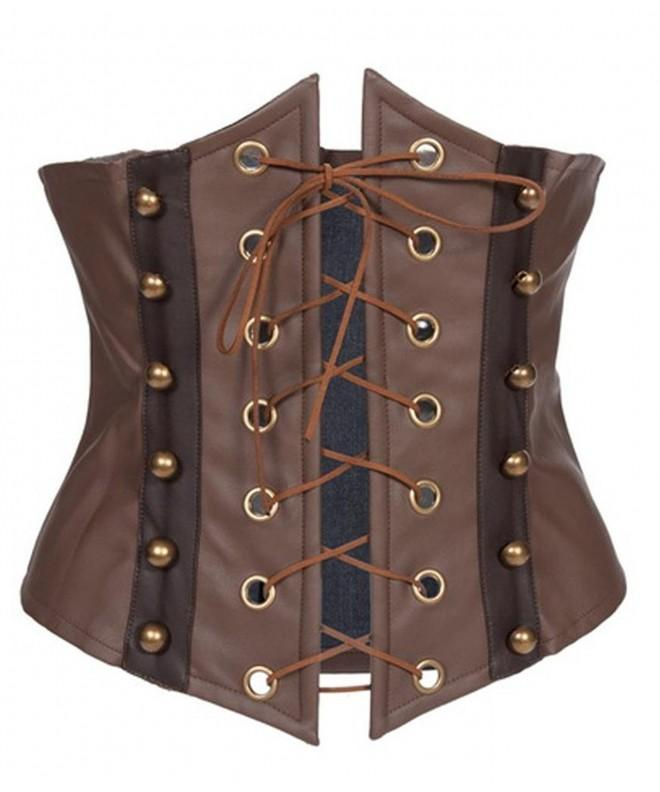 Alivila Y Fashion Underbust Corset H3821 Brown M