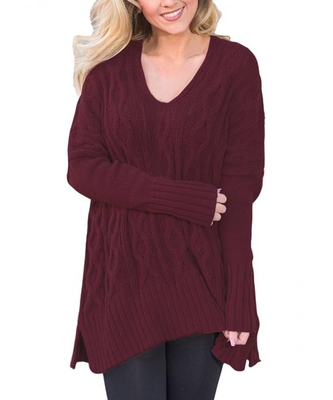Sidefeel Sweater Pullover XX Large Burgundy