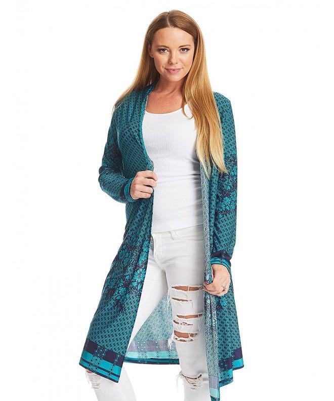 WSK1334 Womens Sleeve Cardigan Jade_Navy