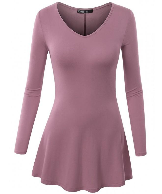 TWINTH Tunic Lightweight V Neck LAVENDER