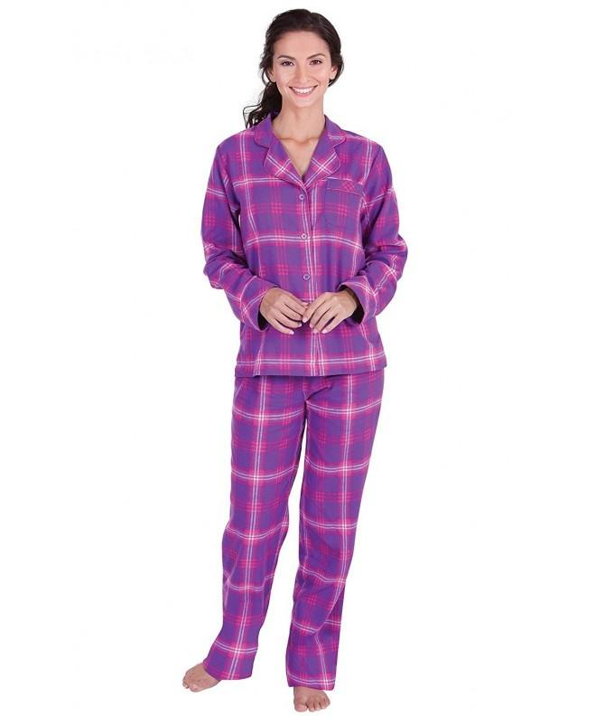 PajamaGram Womens Raspberry Boyfriend Pajamas