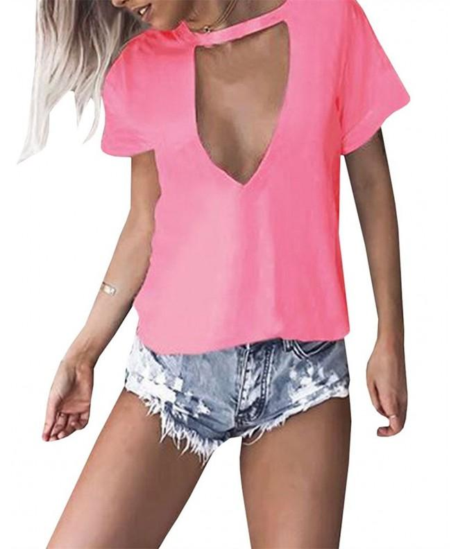 GAMISOTE Summer Halter Casual Blouses
