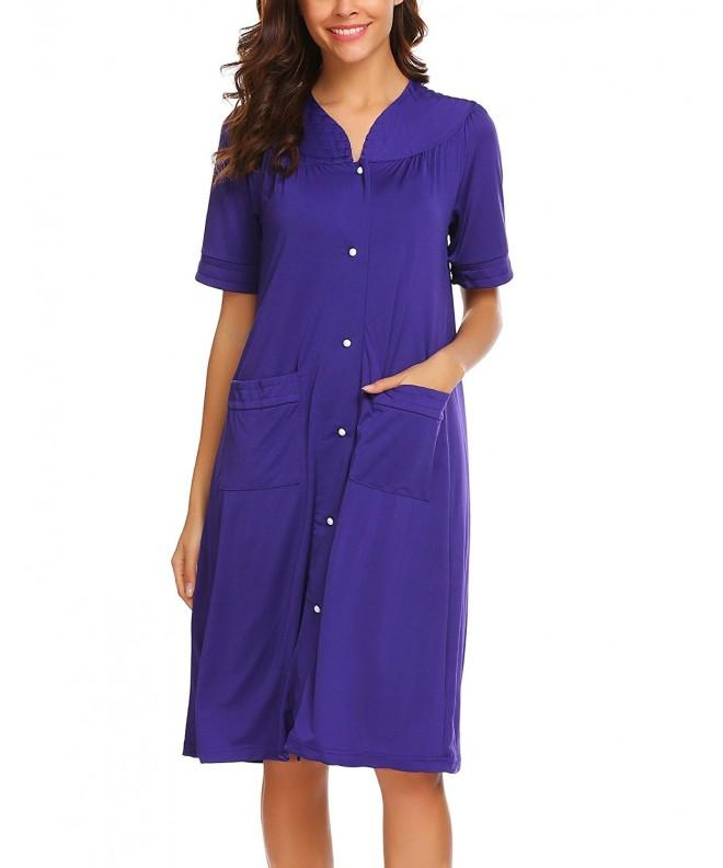 Ekouaer Elegant Cotton Nightgown Sleepwear