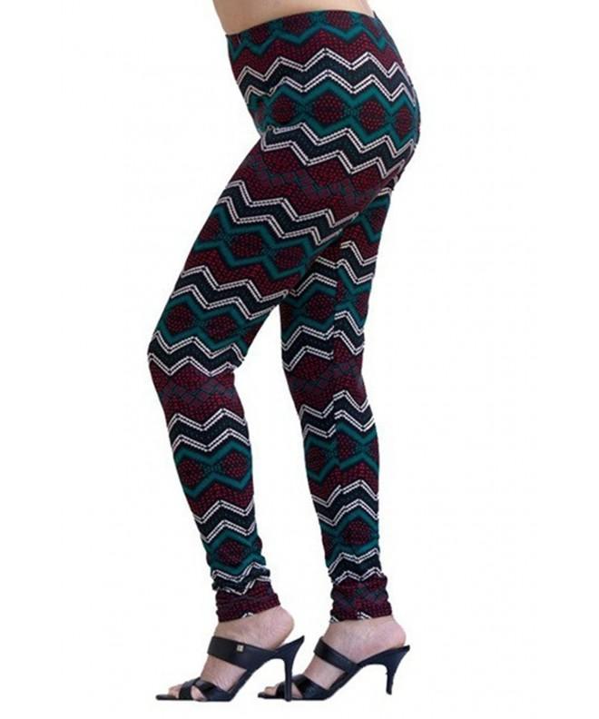 TJ CLOTHES Womens Pattern Leggings
