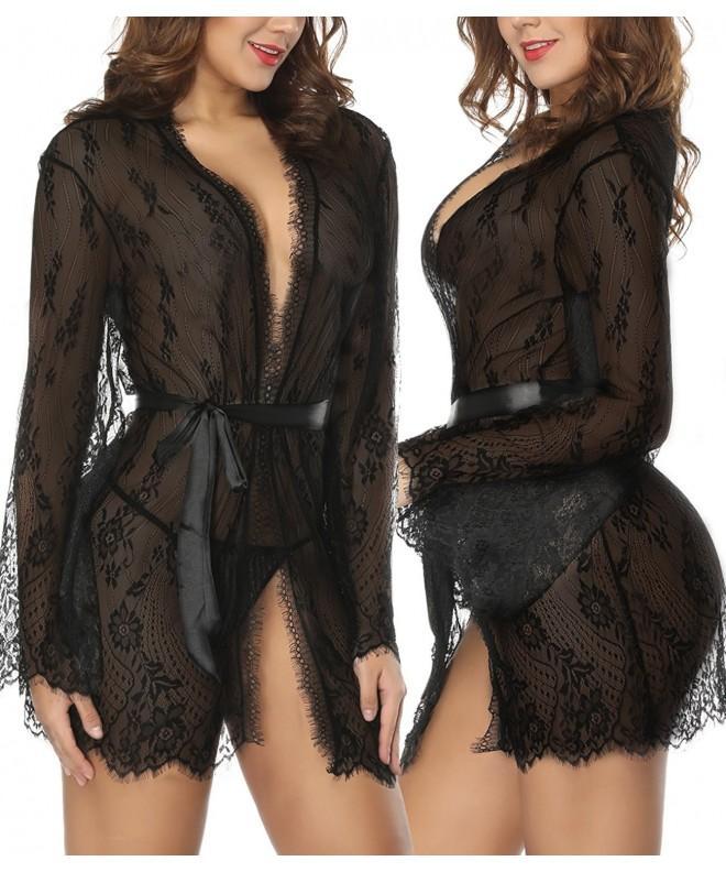 NINGMI Lingerie Babydoll Nightgown Sleepwear