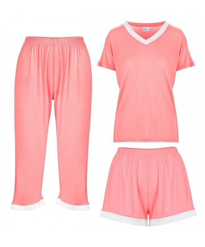 Vudoire Bamboo Womens Pajamas Sleepwear