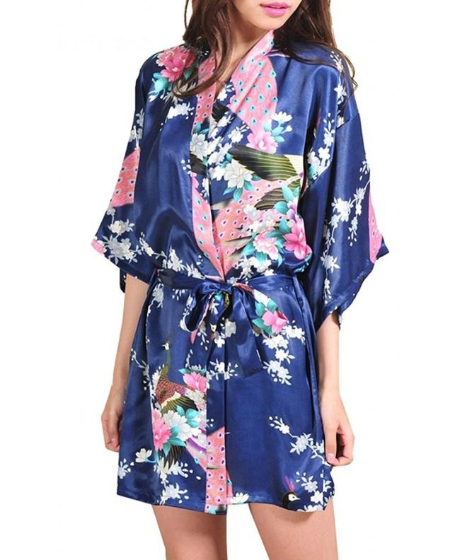 TagoWell Peacock Bathrobe Sleepwear Nightgown
