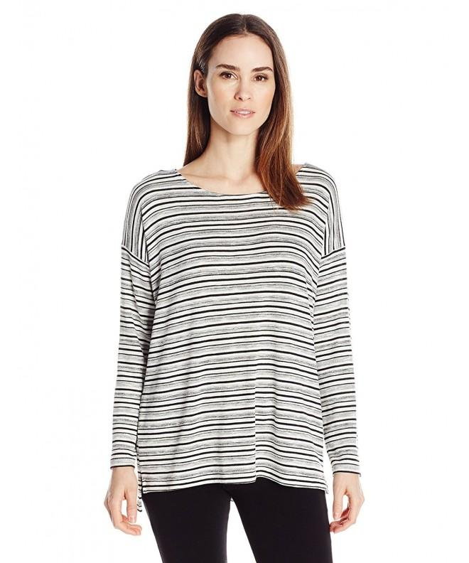 Karen Kane Womens Drop Shoulder Stripe