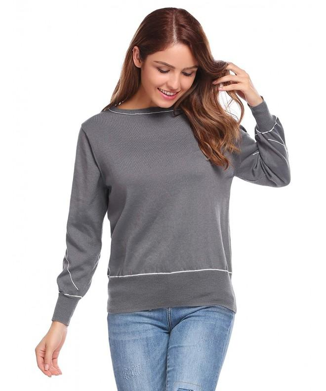 Zeagoo Sleeve Sweater Lightweight Pullover