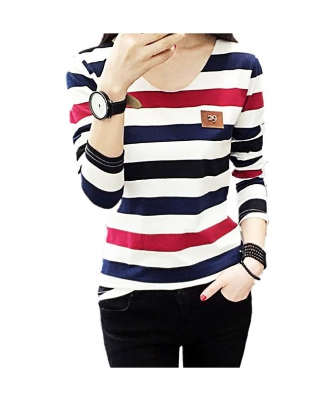 CHICFOR Sleeve Shirts Blouse Stripes