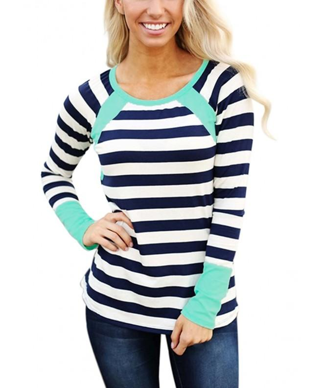Astylish Casual Crewneck Striped T Shirt