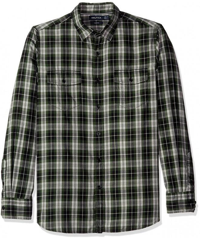 Nautica Mens Pacific Plaid Shirt
