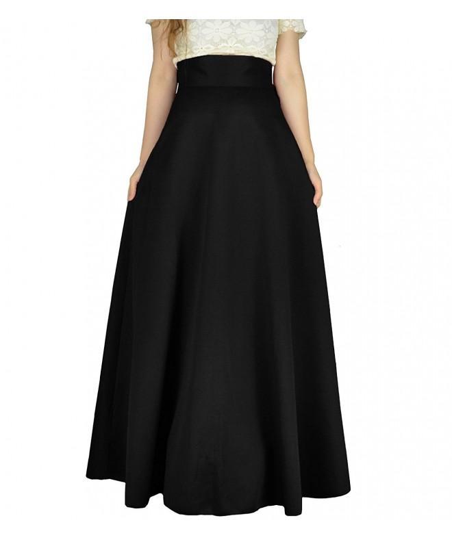 YSJ Womens Pleated Vintage Skirts