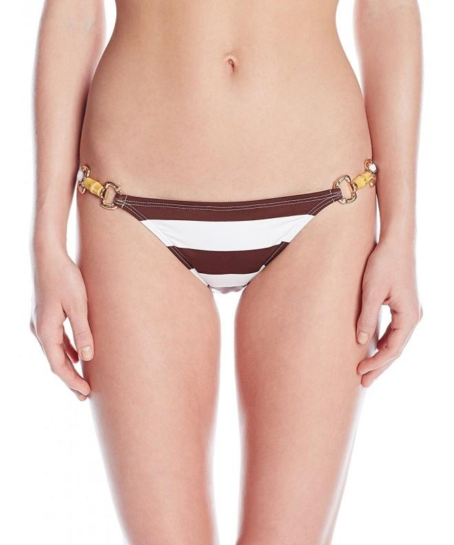 PilyQ Womens Bikini Bottom Brown