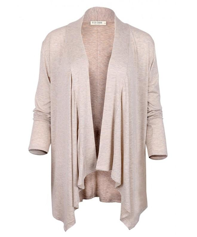 Code Draped Cardigan Large Oatmeal
