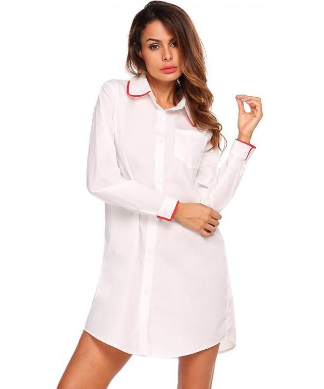 Ekouaer Womens Boyfriend Sleeve Sleepwear