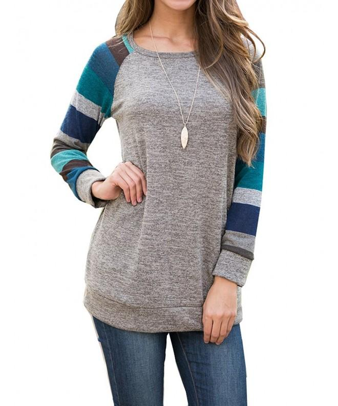 PrinStory Womens Sleeve Multicolor Casual